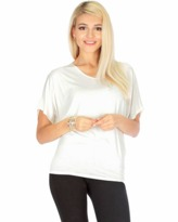 Fashion Club USA Short Sleeve Dolman Tunic Top.