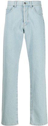 MSGM Back Patches High-Rise Jeans