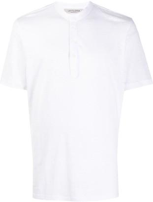Fileria collarless buttoned T-shirt