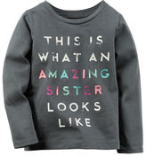 Carter's Long-Sleeve Amazing Sister Graphic Tee