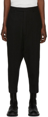 Rick Owens Black Karloff Cropped Trousers