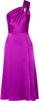 Cushnie et Ochs One-shoulder silk-charmeuse dress