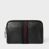 Paul Smith Men's Black Leather 'City Webbing' Wash Bag