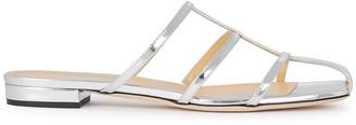 Giannico Kaya silver leather sandals