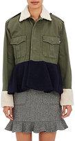 Harvey Faircloth Women's Shearling Peplum Field Jacket