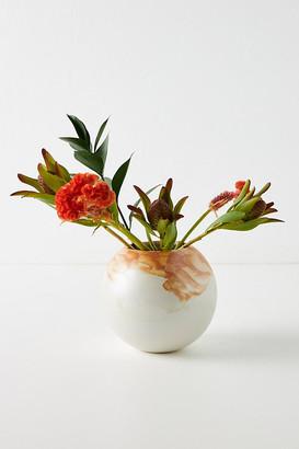 Anthropologie Minetta Marbled Vase By in Orange Size M