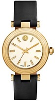 Tory Burch Classic T Watch, Black Leather/Gold-Tone, 36 Mm