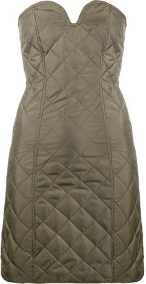 Ganni Quilted Mini Dress