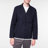 Paul Smith Men's Navy Cotton Three-Button Patch-Pocket Jacket