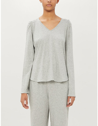 Selfridges Elena stretch-jersey pyjama top
