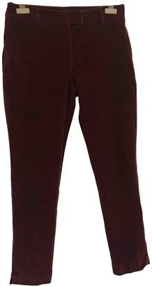 Paul & Joe Burgundy Velvet Trousers for Women