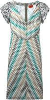 Missoni V-neck knitted dress