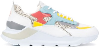 D.A.T.E Colour Blocked Low Top Sneakers