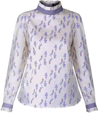Gisy Lavender Cotton Voile Blouse