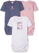 Absorba Baby Girls' 3 Us Mc Adorable Bebe Bodysuit (Pack of 3), Rose (Grenadine), 18-24 Months