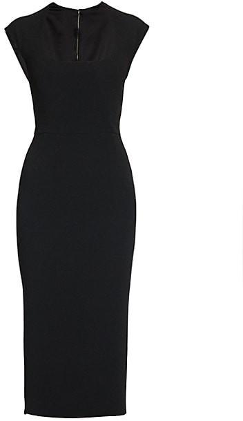 Dolce & Gabbana Cap-Sleeve Midi Dress