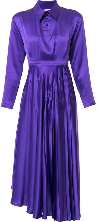 Charles Jeffrey Loverboy Pleated Midi Dress