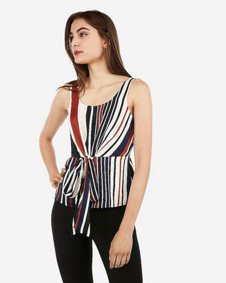 Express Striped Scoop Neck Tank