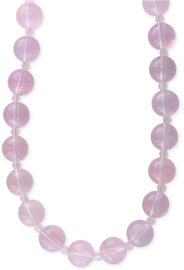 Effy Rose Quartz (4 & 12mm) Beaded Collar Necklace in 14k Gold