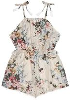 Zimmermann Aerial Floral Ruffle Trim Playsuit