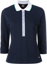 Fay chambray-detailed polo shirt