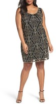 Pisarro Nights Plus Size Women's Sequin Shift Dress