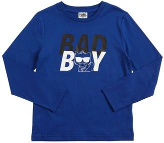Karl Lagerfeld Paris Bad Boy Print Cotton Jersey T-Shirt