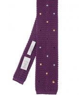 Eton Knitted Silk Spot Tie