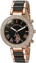 U.S. Polo Assn. Women's USC40090 Rose Gold-Tone Dress Watch