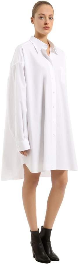 Maison Margiela Oversized Cotton Poplin Shirt Dress