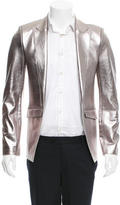 Unconditional Metallic Leather Blazer w/ Tags