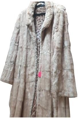 Genny Beige Fur Coat for Women Vintage