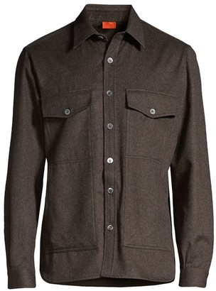 Isaia Wool Cashmere Moleskin Overshirt
