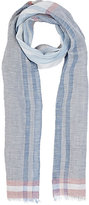 Colombo MEN'S PLAID GAUZE SCARF