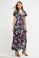French Connection Linosa Slinky Floral Maxi Dress