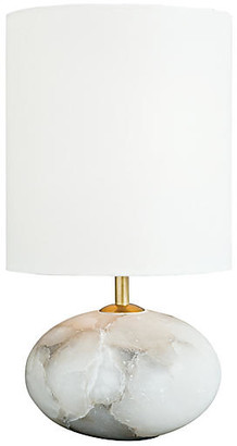 REGINA ANDREW Alabaster Orb Table Lamp - White/Stone