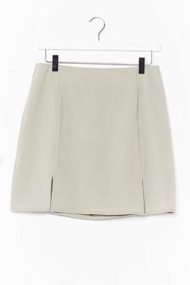Nasty Gal Womens What's Slit Gonna Be High-Waisted Mini Skirt - Green - 4