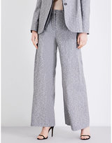 Topshop Fontana wide-leg wool-blend trousers