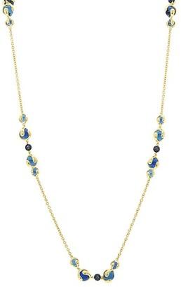 MARINA B 18K Yellow Gold, Sapphire Blue Quartz Chain Necklace