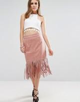 Glamorous Fringe Hem Skirt