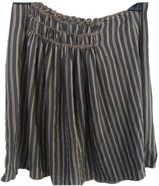Philosophy di Alberta Ferretti Grey Wool Skirt for Women