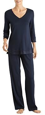 Hanro Lamia Three-Quarter Sleeve Pajama Set