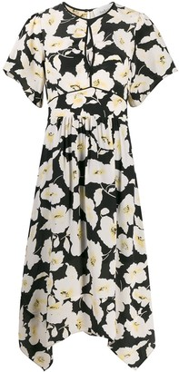 BA&SH Fairy floral-print midi dress