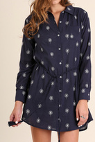 Umgee USA Navy Printed Shirtdress