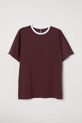 H&M T-shirt with Panels - Red