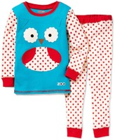 Skip Hop Blue & Red Owl Pajama Set - Toddler & Girls