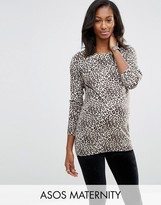 Asos Jumper In Leopard