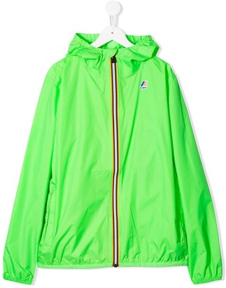 K Way Kids TEEN hooded lightweight jacket