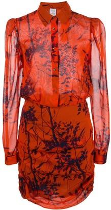 Sara Roka Thalie leaf print dress