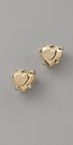 Faceted Heart Studs
